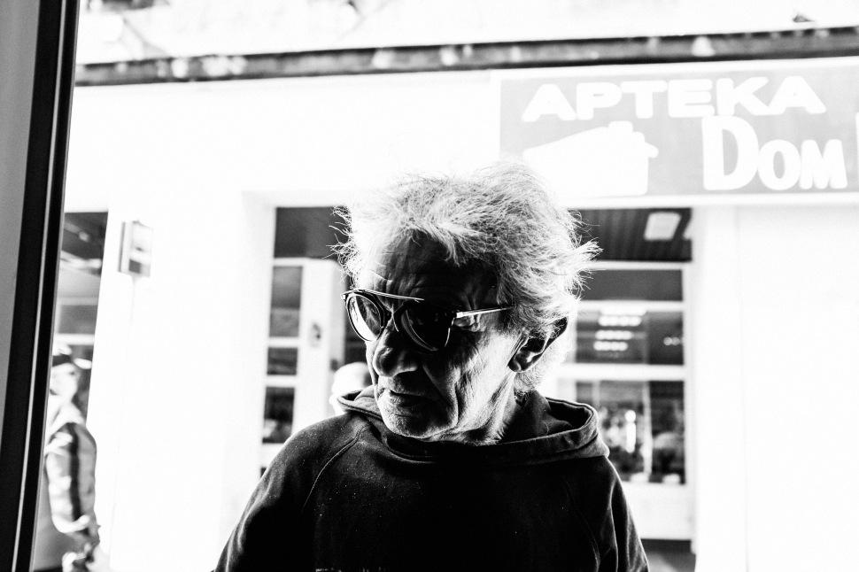 2 man with sunglasses tram monochrome 2 365