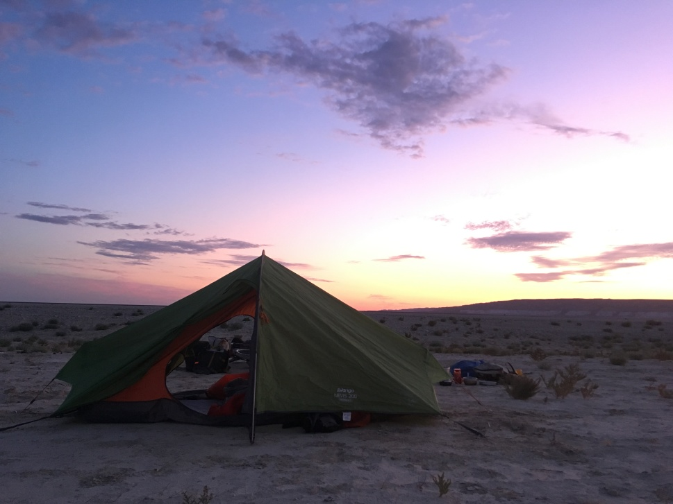 Camping on the Ustyurt Plateau